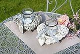 1 x Windlicht Herz Holz Weide Breite 20 cm, Beleuchtung, Tischdeko, Light, Hochzeit, Liebe