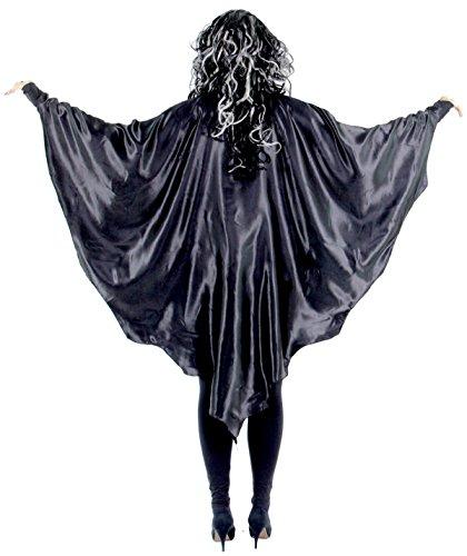 Foxxeo 35051 | Schwarze Vampirflügel / Schwarze Fledermausflügel | Fledermaus schwarze Vampir Flügel Vampirflügel Cape Umhang Halloween Horror (Cape Flügel Kostüm)