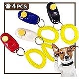 iNeith Klicker Clickertraining Hunde Clicker für Katzen Pferde Haustier inkl. Armband Profi Schwarz Blau Rot Weiß