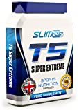 MASSIVE PROMO DISCOUNT - T5 Fat Burners x60 Capsules - T5 Super Extreme Max Strength Thermogenic Fat Burner - Diet Slimming Pills for Weight Loss | Suppress Appetite, Boost Metabolism and Increase Energy for Men and Women from Slim247