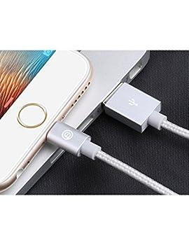 Apple Ladekabel Opso[apple Mfi Zertifiziert] Nylon Geflochten Lightning Usb Kabel 1m Für Iphone 7 6s 6 Plus Se 5s, Ipad Pro, Ipad Mini, Ipod Touch Nano - Silber 7