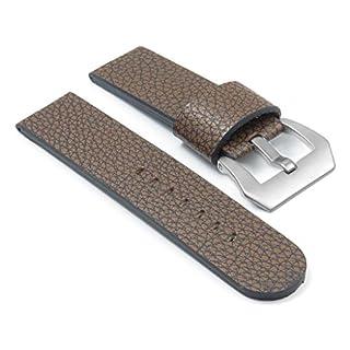 DASSARI Aztek Brown Pebbled Vintage Leather Watch Band Strap w/ PVD Matte Steel Buckle fits PANERAI 26mm