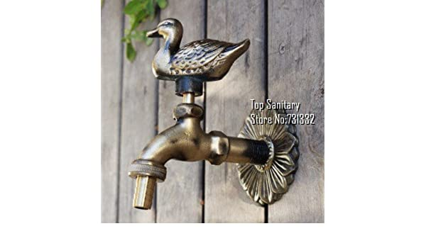 Latest Collection Of Animal Shape Garden Bibcock Rural Style Antique Bronze Duck Tap With Decorative Outdoor Faucet For Garden Washing Low Price Bathroom Sinks,faucets & Accessories