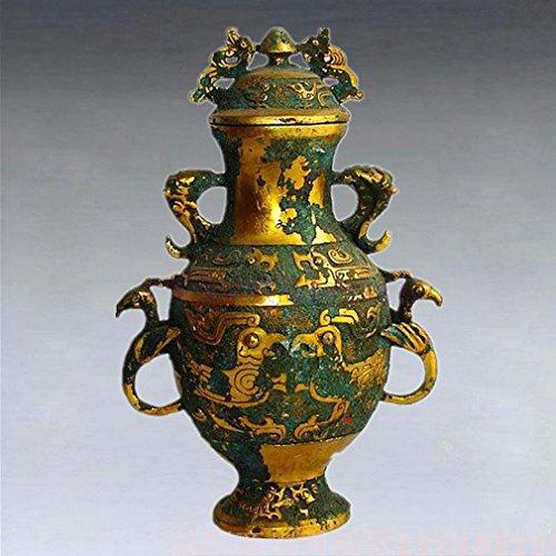 L Y Antike Bronze Ornamente Antiquitäten Antiquitäten Handwerk Geschenke Jiapin Topf Heimtextilien,A -