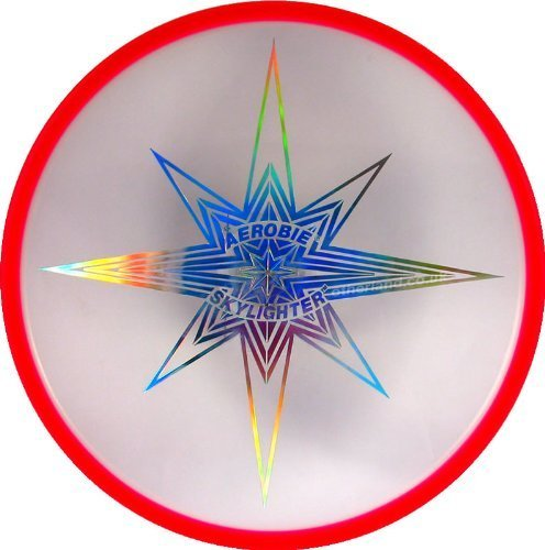 Aerobie Skylighter Beleuchtete Flying Disc (rot) Farbe: rot