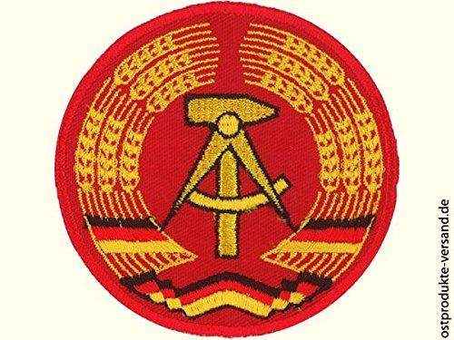 Aufnäher DDR Emblem rund 7cm   Ossi Produkte   für Ostalgiker   DDR Geschenke