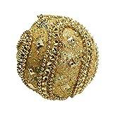 BHYDRY Adorno navideño de Diamantes de imitación con Adornos de Purpurina, Adornos de árbol de Navidad, decoración de 8 cm.(1PC,Oro)