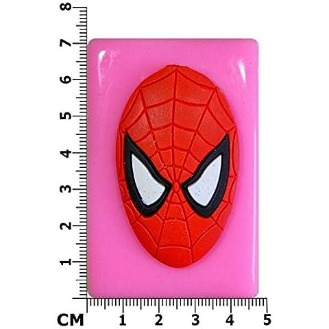 Grand Masque de Spider-Man Moule en Silicone pour décoration de gâteau/Cupcake Toppers Décoration de gâteaux glaçage pâte à sucre Par les fées Blessings outil