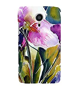 Flowers Painting 3D Hard Polycarbonate Designer Back Case Cover for Meizu MX5