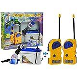 SET radios walkie talkie para ninos (1 par) con walkie-talkie - walkie-talkie con 50 m de luz - AZUL