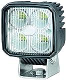 HELLA 1GA 996 284-002 Q90 compact, LED Arbeitsscheinwerfer, Nahfeldausleuchtung, 4 LEDs, 1.000 Lumen, stehender/ hänger Anbau, wärmeleitendes Kunstoffgehäuse, 12V/ 24V