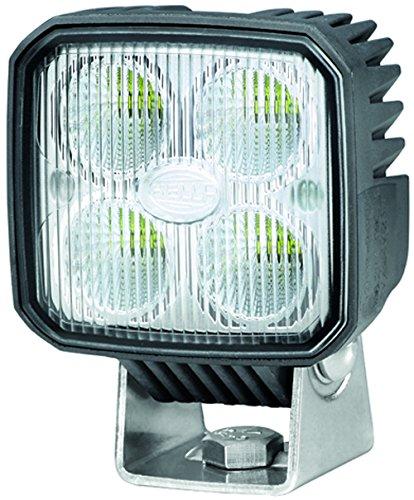 HELLA 1GA 996 284-001 Arbeitsscheinwerfer Q90 compact für Nahfeldausleuchtung/ Bodenausleuchtung, Anbau/ Bügel, LED, 12V/24V
