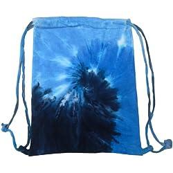 Colortone - Mochila saco o de cuerdas Modelo Tie Dye Deporte/Gimnasio Diseño Psicodélico (Talla Única/Azul océano)