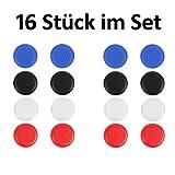 Lot de 16(2fois 8Capuchons en kit) Capuchons de Joystick Thumb Stick ANALOGS brodé Embouts Capuchons de protection pour PS4/DualShock Contrôleur de amathings
