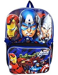 "Backpack - Marvel - Avengers 16"" W/Lunch Kit New Large School Bag 287960"
