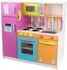 kidkraft cuisine enfant en bois deluxe big and bright jeux et jouets. Black Bedroom Furniture Sets. Home Design Ideas