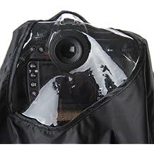 Profox / JJC - Protección de lluvia profesional para Canon y Nikon (excepto D2, D3 y D700) reflex con tres bordes del ocular para Canon EF 28-300mm f/3.5-5.6L, EF 70-200mm f/2.8L IS (II), EF 100-400mm f/4.5-5.6L, EF 300mm f/4L, Nikon AF-S Nikkor 300mm f/4D IF-ED, AF VR Zoom-Nikkor 80-400mm f/4.5-5.6D ED, AF Zoom-Nikkor 80-200mm f/2.8D ED y AF-S Nikkor 70-200mm f/2.8G ED VR II