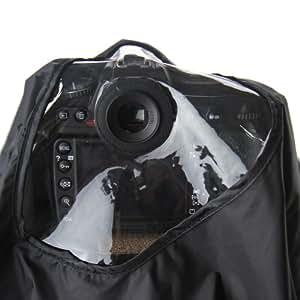Protection de pluie professionnel pour Canon et Nikon (non pas pour D2, D3, D700) reflex avec trois oeilletons - pour CANON EF 28-300mm f/3.5-5.6L, EF 70-200mm f/2.8L IS (II),EF 100-400mm f/4.5-5.6L, EF 300mm f/4L,NIKON AF-S Nikkor 300mm f/4D IF-ED,AF VR Zoom-Nikkor 80-400mm f/4.5-5.6D ED, AF Zoom-Nikkor 80-200mm f/2.8D ED, AF-S NIKKOR 70-200mm f/2.8G ED VR II