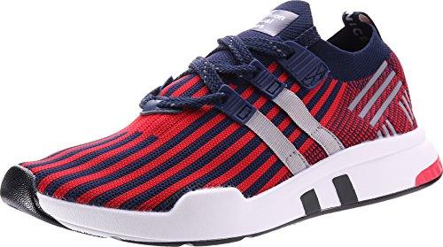 JOOMRA Herren Laufschuhe Atmungsaktiv Gym Fitness Turnschuhe Freizeitschuhe Sportschuhe Sneaker Running Sommer Schuhe Männer Jungen Jungs Halbschuhe Blau Rot 45 EU (Jungen-sale)