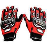 Motoway Pro Biker Full Racing Biking Driving Motorcycle Gloves Red XL