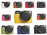 10 Farbe! Echte Handgemachte Hartledertasche Kamera Leder Hälfte Case Tasche Hülle für Canon G1X M2 (Bitte hinterlassen Sie eine Nachricht, welche Farbe Sie bevorzugen)