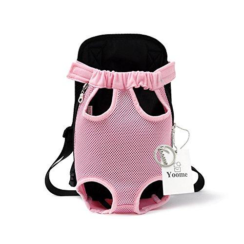 Yoome Pet Carrier Rucksack Beine vor Hund Carrier Handfrei Verstellbarer Puppy Cat Tote Halterung Travel Bag Pet Tragbare Brust Schulter Taschen -