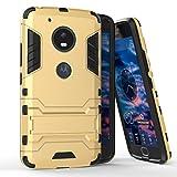 Roreikes Lenovo Motorola Moto G5 H�lle, R�stungs Series H�lle Silikon Sto�fest Case mit St�nder Schutzh�lle f�r Lenovo Motorola Moto G5 - Gold Bild