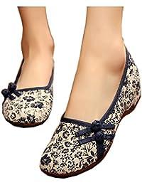 9b4b02a0 Impresión de Pequeñas Flores Mocasines Zapatos de Tela Mujeres Antiguas de  Pekín Pisos Respirables