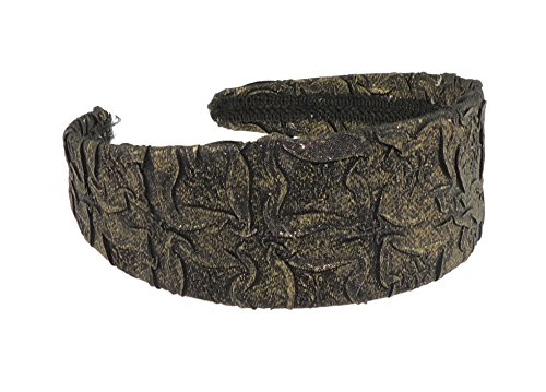 ladies Girls Wide Textured Floral Headband Aliceband Black by Glamour Girlz (Womens Ideen Christmas Dress Fancy)