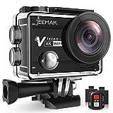 【Nuova Versione】Action Cam 4K JEEMAK Wi-Fi 16MP Ultra FHD Impermeabile 30M Videocamera 170°Grandangolare 2.0 Pollici con Due Batterie 1050mAh e Kit di Accessori di Montaggio