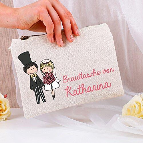 Kosmetiktasche mit Namen der Braut