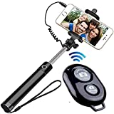 Frocel2662 Wire Mobile Extendable Selfie Stick with Remote for All Android and iOS Phones
