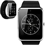 DAM - Gt08 Bluetooth Watch Black/Silver