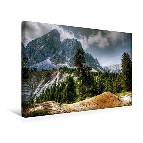 Calvendo Premium Textil-Leinwand 45 cm x 30 cm Quer, Peitlerkofel - Alta Badia | Wandbild, Bild auf Keilrahmen, Fertigbild auf Echter Leinwand, Leinwanddruck Orte ()