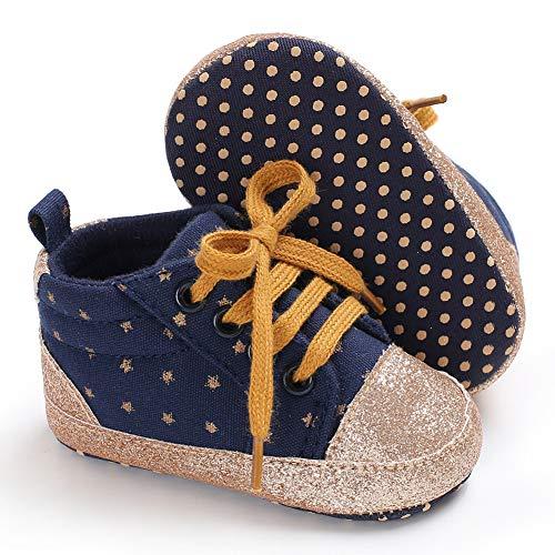 Babycute Scarpe da Ginnastica morbide per Neonati, con Suole morbide, Stile Casual Sportivo, perfette Come Prime Scarpe per Camminare, in Tela