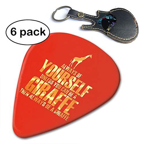 Fighwy Giraffe Premium Plektrum für Akustikgitarre, Mandoline und Bass .46mm ()