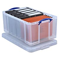 Really Useful Box 64 Litre Storage Box, Clear