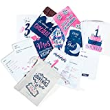Lot de 50 Cartes Étapes Mixtes Souvenirs de la 1ère année de Bébé - Cadeau de...
