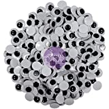 Asian Hobby Crafts Googly Moving Eyes, Black/White (200 Pieces, 8mm)