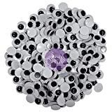 #7: AsianHobbyCrafts Googly Moving Eyes Black & White: 200pcs 8mm.