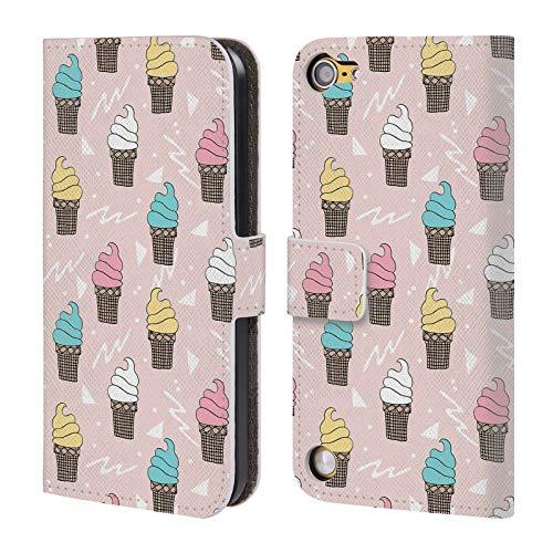 Offizielle Andrea Lauren Design EIS Essen Muster Brieftasche Handyhülle aus Leder für Touch 5th Gen/Touch 6th Gen Gen Case Ipod