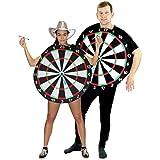 Foxxeo 40010 | Dartscheiben Dartscheibe Pfeil JGA Kostüm für Erwachsene