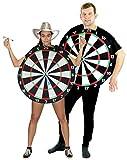 Foxxeo 40010 | Dartscheiben Dartscheibe Pfeil JGA Kostüm für Erwachsene, Größe:M/L