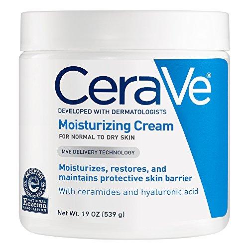 CeraVe Feuchtigkeitscreme für trockene Haut, für täglichen Gebrauch, für Gesicht und Körper, 473 ml