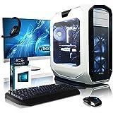 Vibox VBX-PC-16281P Purity Paket 5 68,6 cm (27 Zoll) Gaming Desktop-PC (Intel Core i7 5820K, 64GB RAM, 3TB HDD, NVIDIA Geforce GTX 970, Win 10 Home) weiß