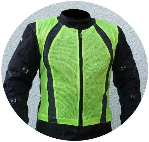 HEYBERRY Motorrad Warnweste Sicherheitsweste Reflektorweste neon gelb Gr. XXL