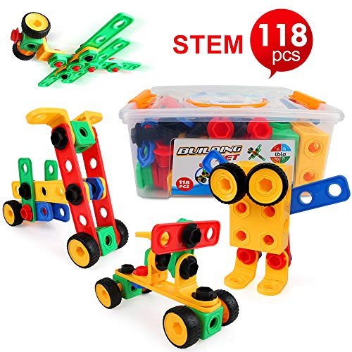 LBLA Take Apart Toy for 4 Year Olds Boys Girls,Construction Toys for 5 6 7 8 9 Year Old ,Gifts for Kids,Building Block Toys for Kids Children,Educational Creative toys, Learning Toys,118 PCS