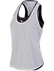 Naffta Active - Camisetas asas para mujer, color gris ceniza / blanco, talla M