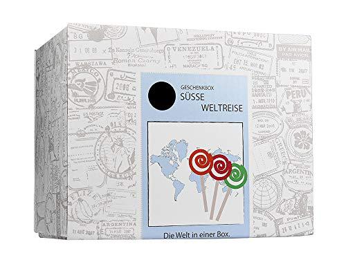 Monsterzeug Süßigkeiten aus aller Welt - Geschenkbox, 9 Leckereien aus unterschiedlichen Ländern, Candy Box zum Verschenken