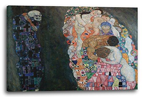 Gustav Klimt - Tod und Leben (1908-1915), 120 x 80 cm (weitere Größen verfügbar), Leinwand auf...